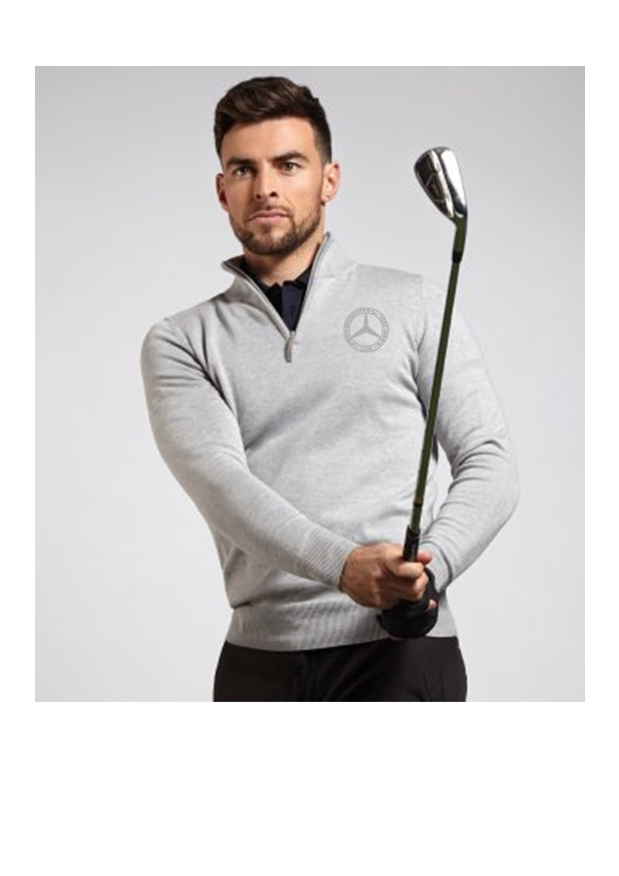 Glenmuir Golf Mens Zip Neck Sweater
