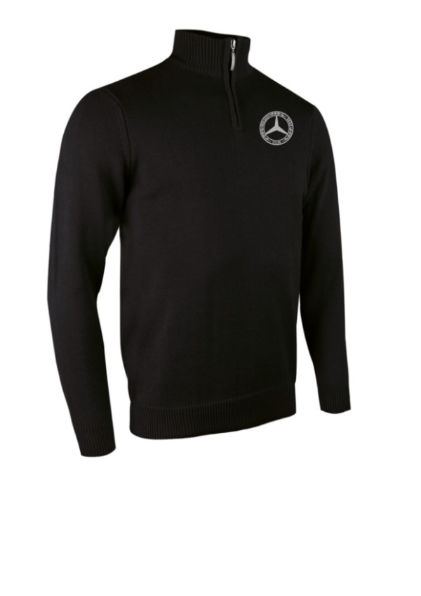 Glenmuir Golf Mens Zip Neck Sweater in black