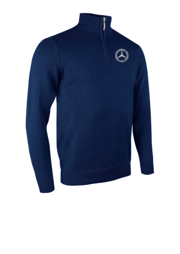 Glenmuir Golf Mens Zip Neck Sweater in Navy blue
