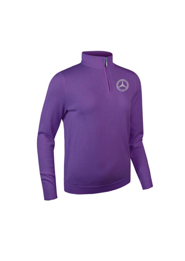 Mercedes-Benz Club Glenmuir Golf Ladies Zip Neck Sweater purple