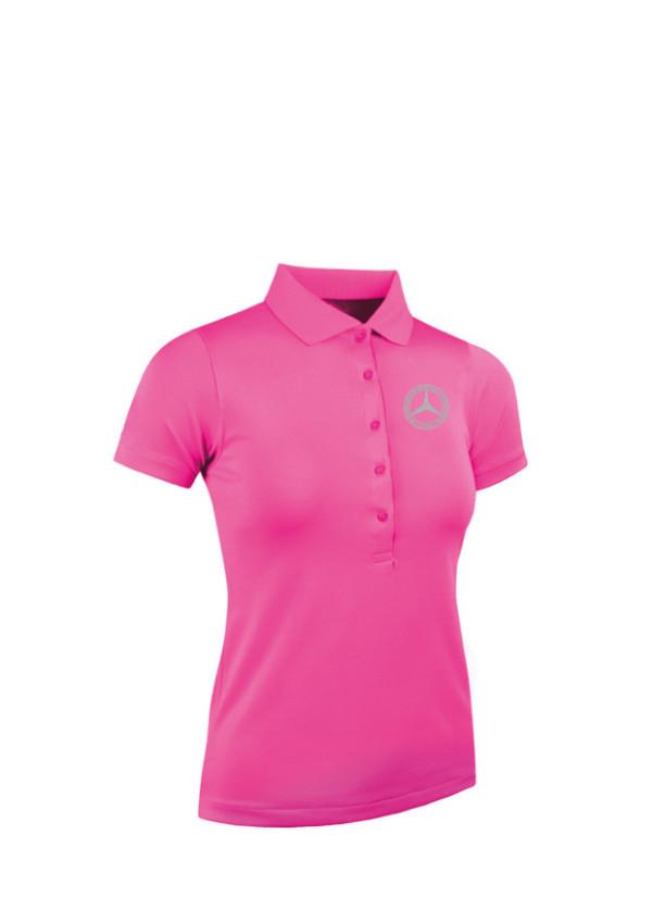Mercedes-Benz Club Glenmuir Golf Ladies Pique Polo Shirt hot pink
