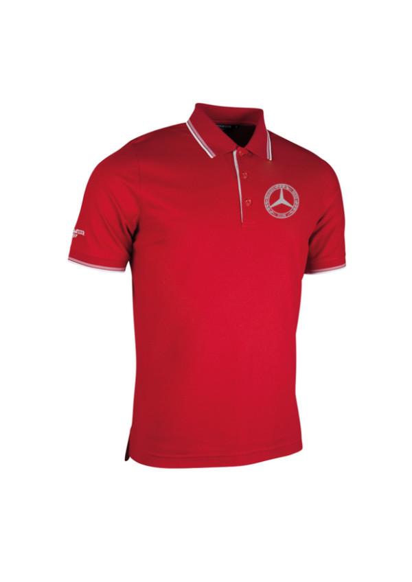 Mercedes-Benz Club Glenmuir Golf Pique Polo Shirt red.